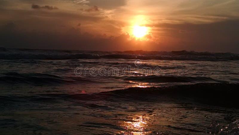 Sonnenuntergang bei Verkala stockfotografie