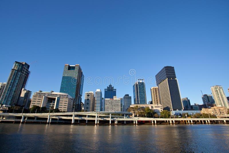 Sonnenuntergang, Brisbane-Stadt stockbilder