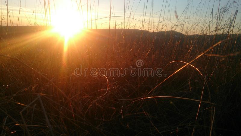 Sonnenuntergang Bulgarien stockfoto