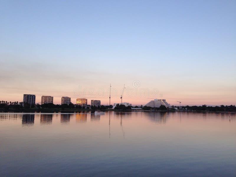 Sonnenuntergang Burswood stockfotografie