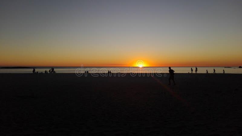 Sonnenuntergang in Cape Town stockfotografie