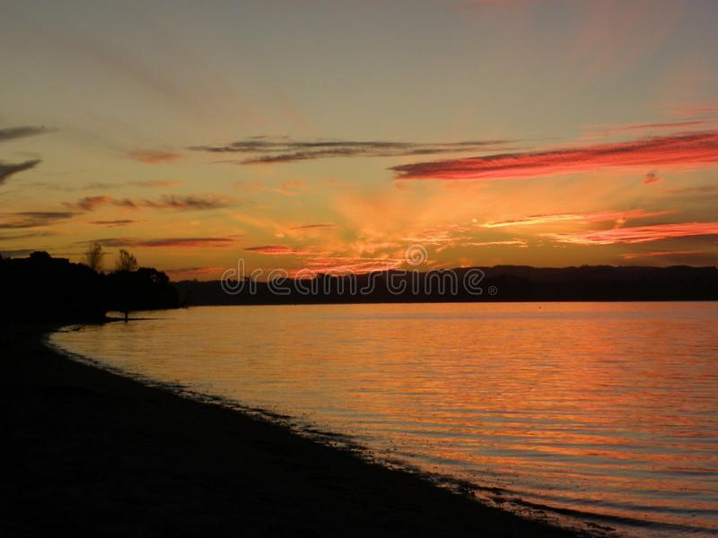 Sonnenuntergang Clarks-Strand lizenzfreie stockfotografie