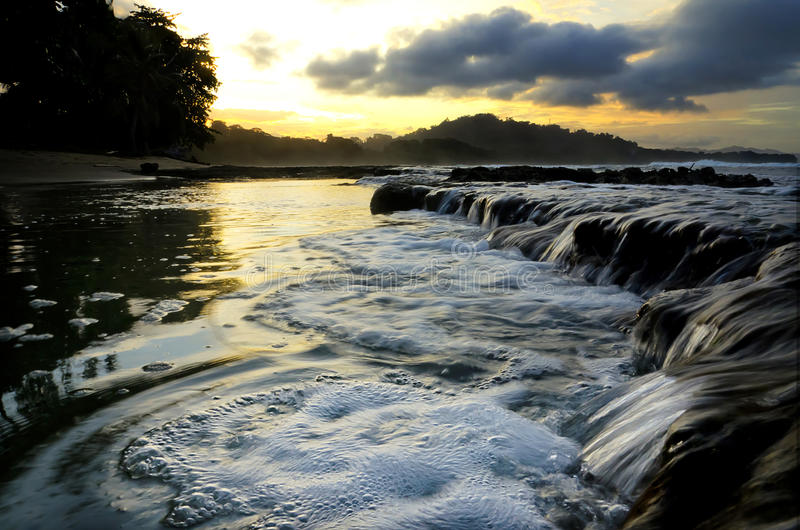 Sonnenuntergang in Cocles lizenzfreies stockfoto