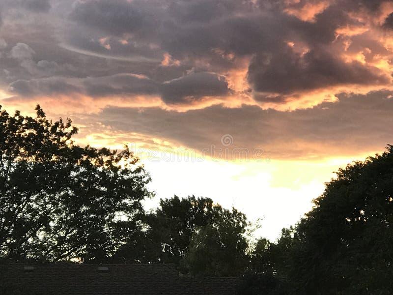 Sonnenuntergang in Colorado stockfotos