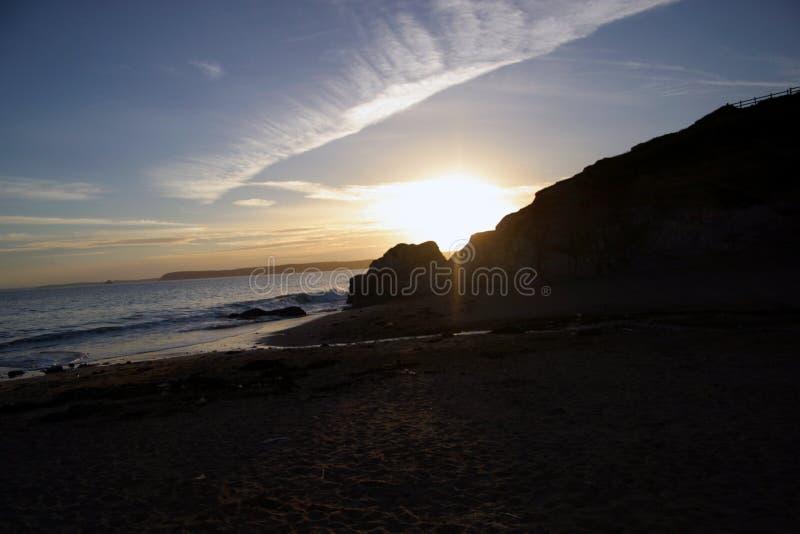 Sonnenuntergang in Cornwall stockbilder
