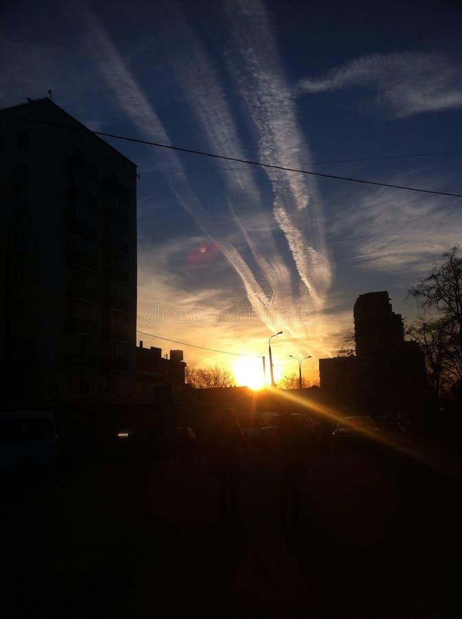 Sonnenuntergang in der Hauptstadt stockfoto
