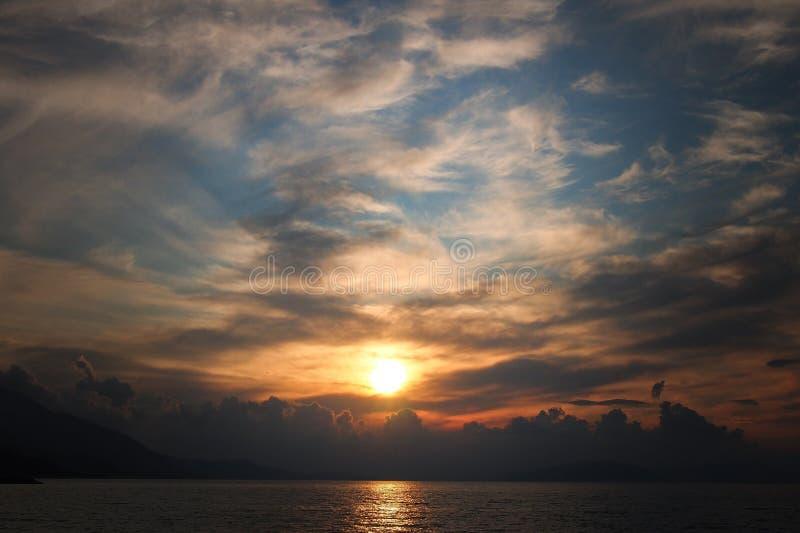 Sonnenuntergang in der Türkei lizenzfreie stockfotografie