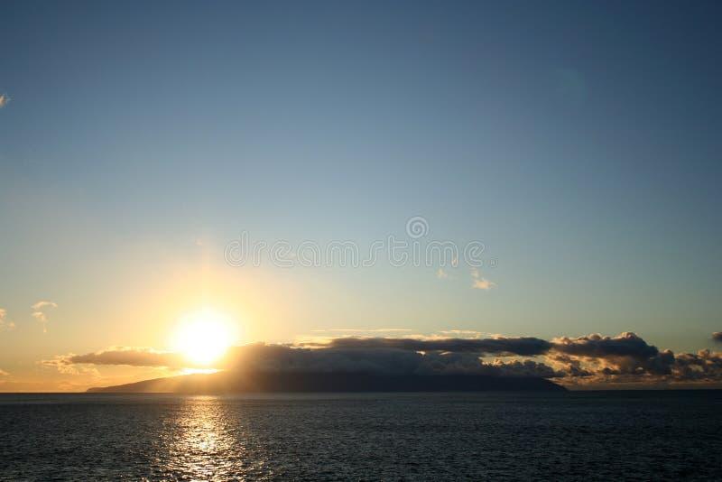 Sonnenuntergang in der Tenerife-Insel lizenzfreie stockfotos
