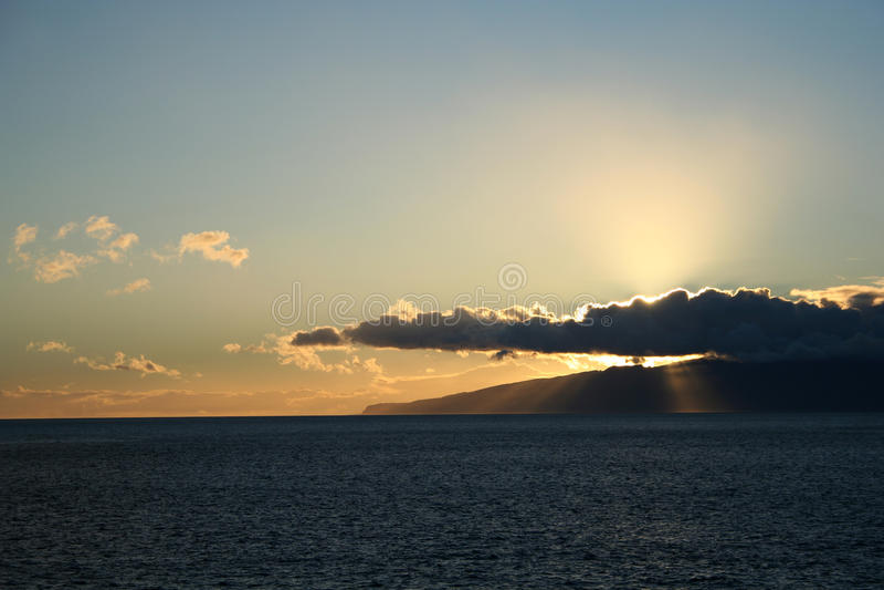 Sonnenuntergang in der Tenerife-Insel lizenzfreie stockfotografie