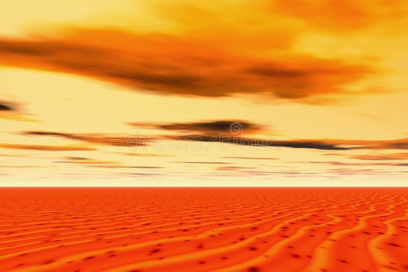 Sonnenuntergang in der Wüste vektor abbildung