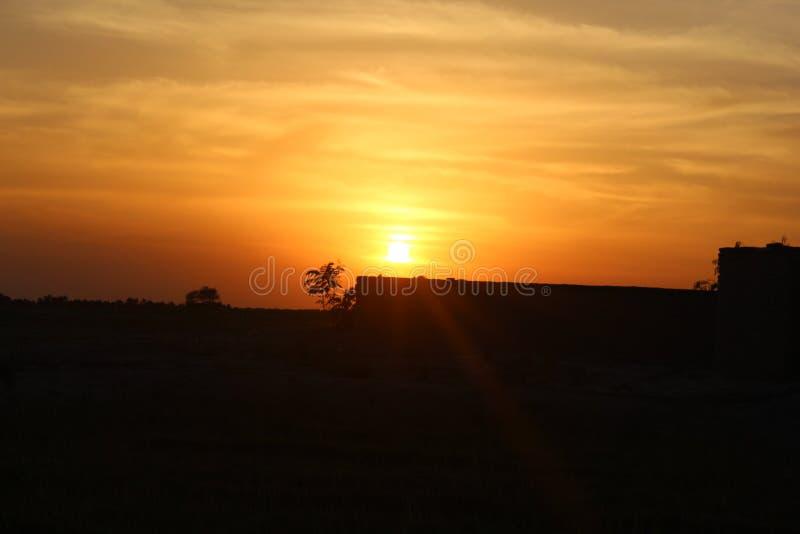Sonnenuntergang in der Wüste stockfotografie