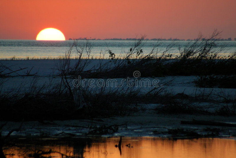 Sonnenuntergang des Geliebten lizenzfreies stockfoto