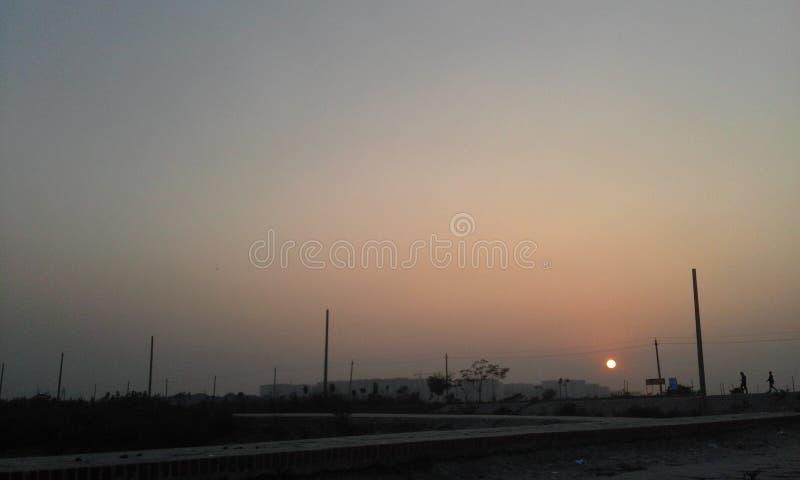 Sonnenuntergang am diyabari BD lizenzfreie stockfotografie