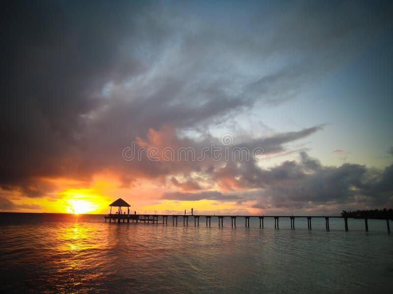 Sonnenuntergang fakarawa lizenzfreie stockfotos