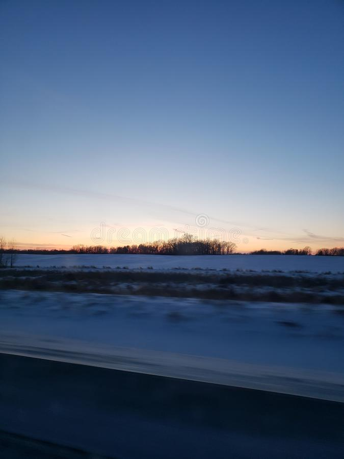 Sonnenuntergang in Faribault Minnesota lizenzfreies stockbild