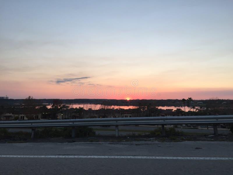 Sonnenuntergang in Florida lizenzfreie stockbilder