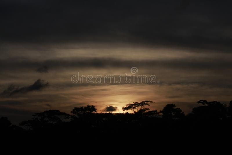 Sonnenuntergang-Foto lizenzfreies stockbild