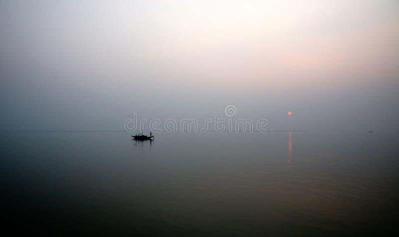 Sonnenuntergang, Ganges-Dreieck stockfoto