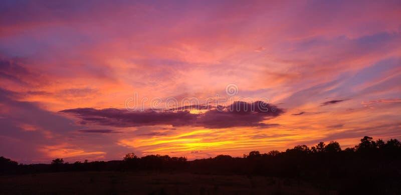 Sonnenuntergang in Georgia stockbild