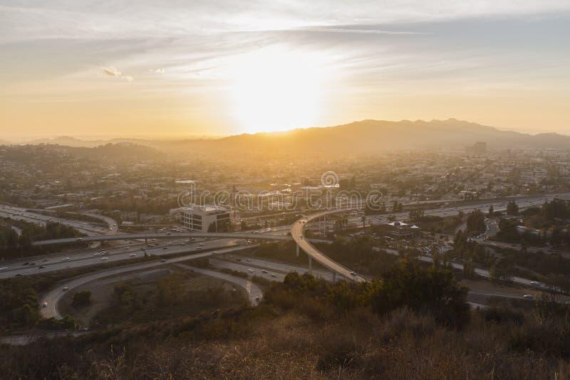 Sonnenuntergang Glendales Kalifornien stockfoto