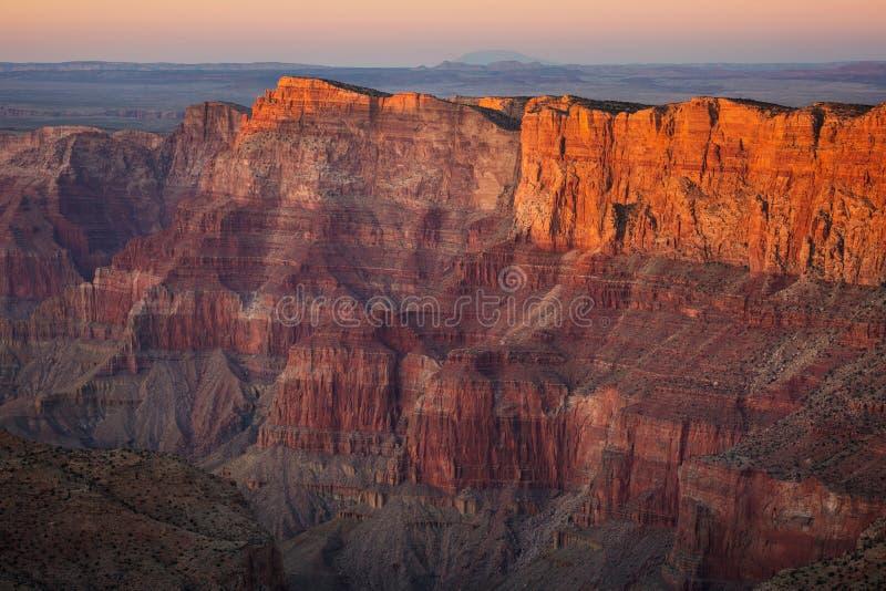 Sonnenuntergang am Grand Canyon lizenzfreie stockfotografie