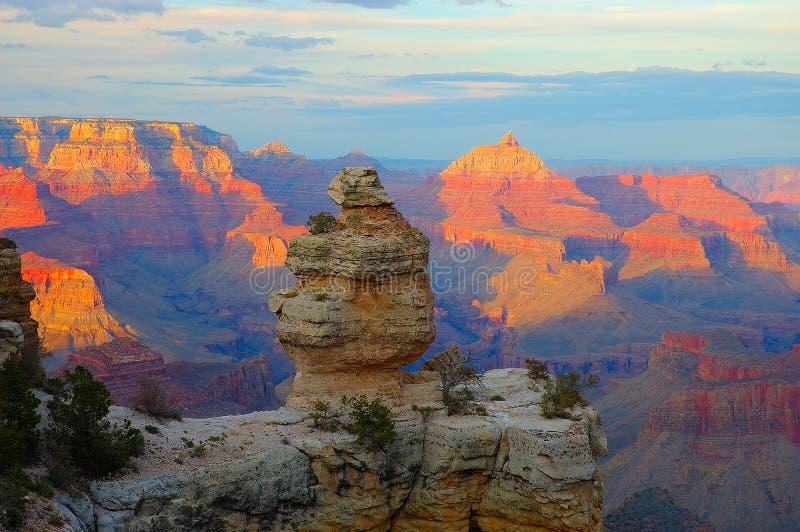 Sonnenuntergang am Grand Canyon lizenzfreie stockbilder