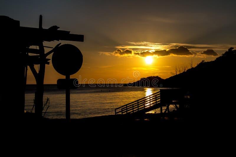 Sonnenuntergang an ` Hort Calas D lizenzfreie stockbilder