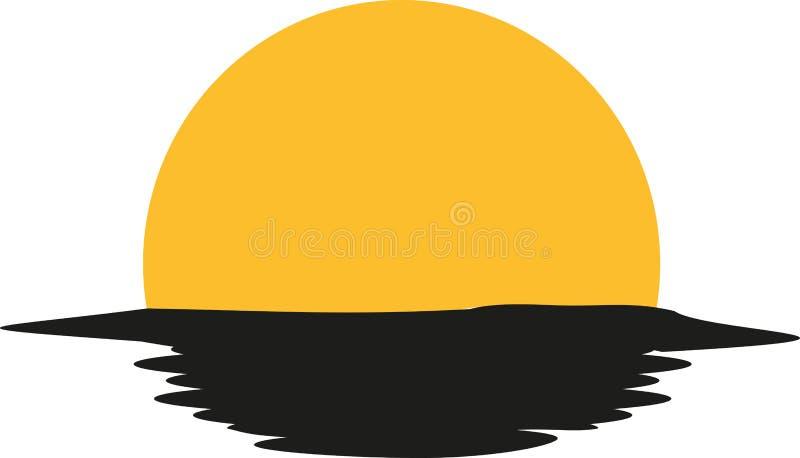 Sonnenuntergang im Ozean lizenzfreie abbildung