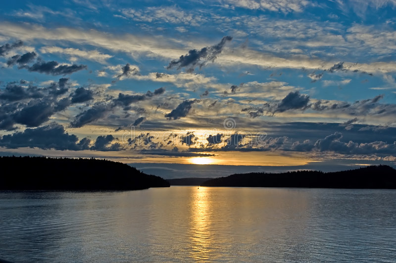 Sonnenuntergang Im Pazifik Lizenzfreie Stockbilder