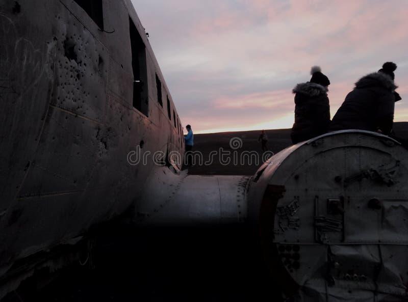Sonnenuntergang in Island lizenzfreie stockfotos