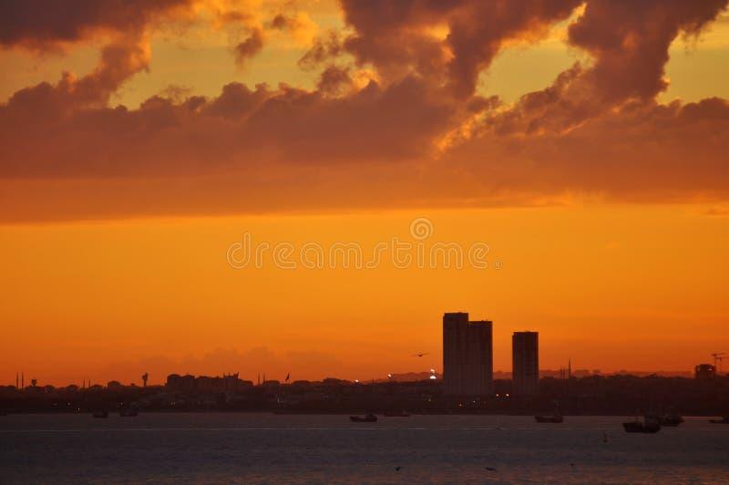 Sonnenuntergang in Istanbul stockfoto