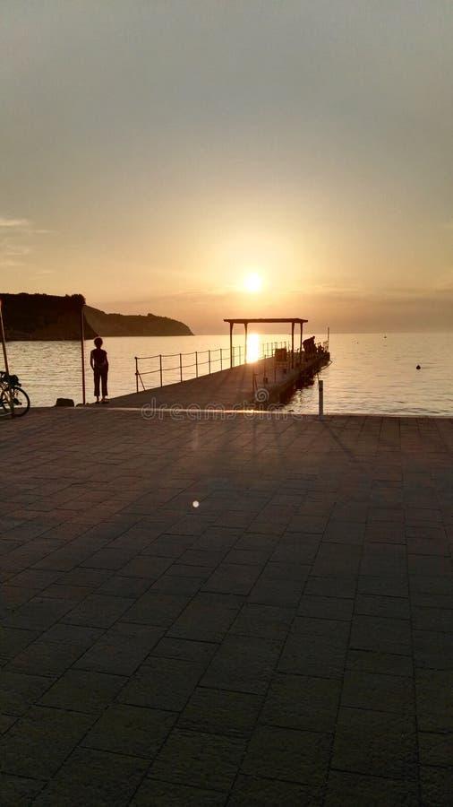 Sonnenuntergang Izola photographie stock