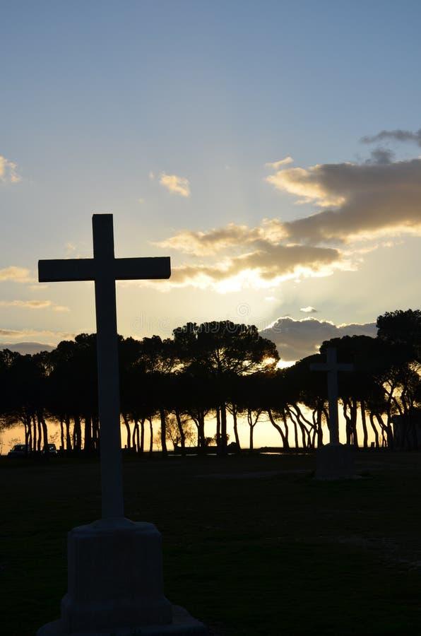 Sonnenuntergang in Kastilien lizenzfreies stockbild