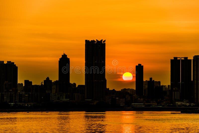 Sonnenuntergang Kwun-Zange stockbilder