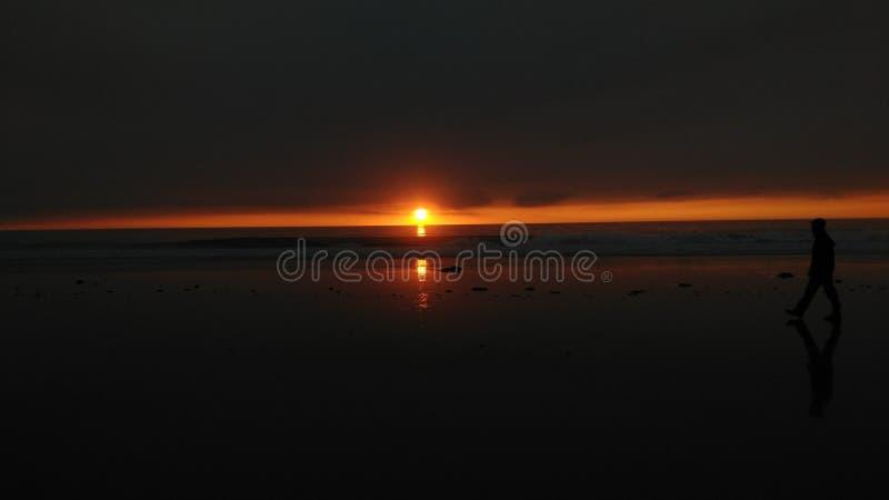 Sonnenuntergang in La Jolla lizenzfreies stockbild