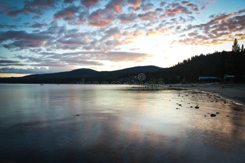Sonnenuntergang Lake Tahoe stockbild