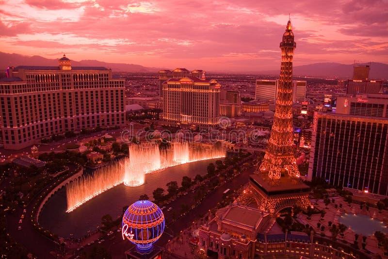 Sonnenuntergang in Las Vegas stockbild