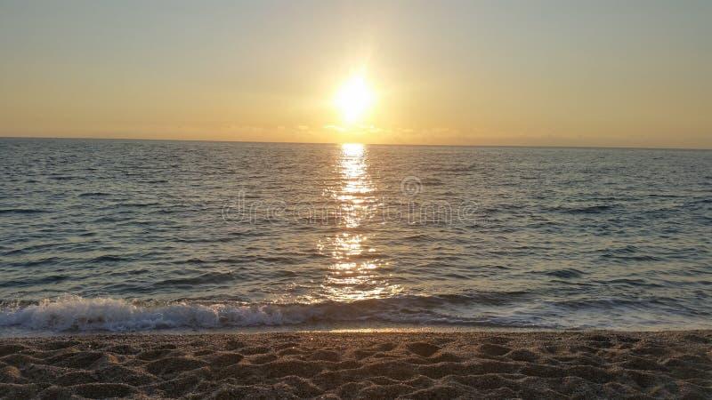 Sonnenuntergang in Lefkas stockfotos