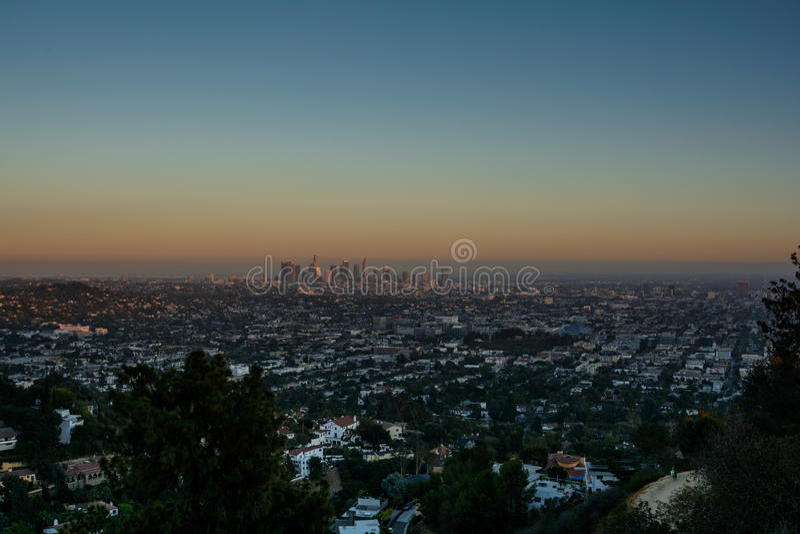 Sonnenuntergang Los Angeles stockbilder