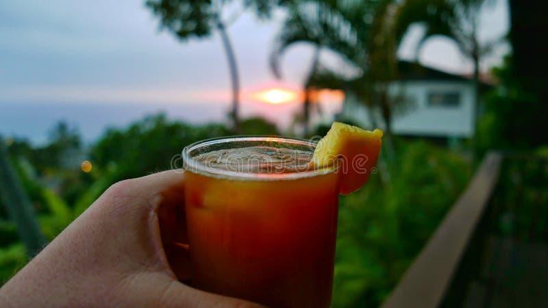 Sonnenuntergang Mai Tai stockbild