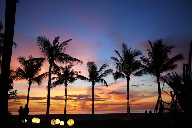 Sonnenuntergang in Malaysia lizenzfreies stockfoto