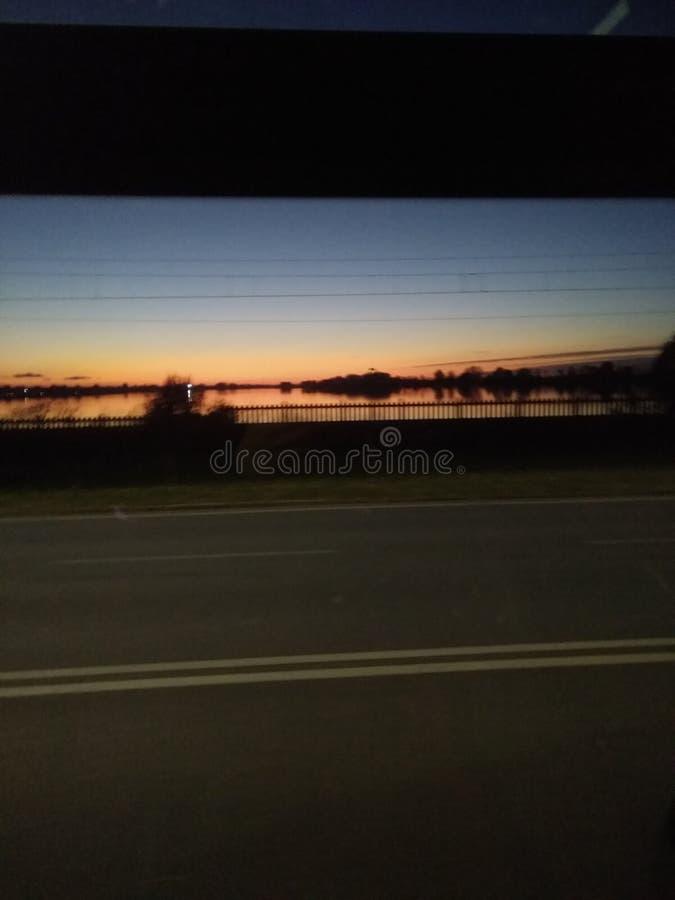 Sonnenuntergang in Mantua Italien stockfotografie