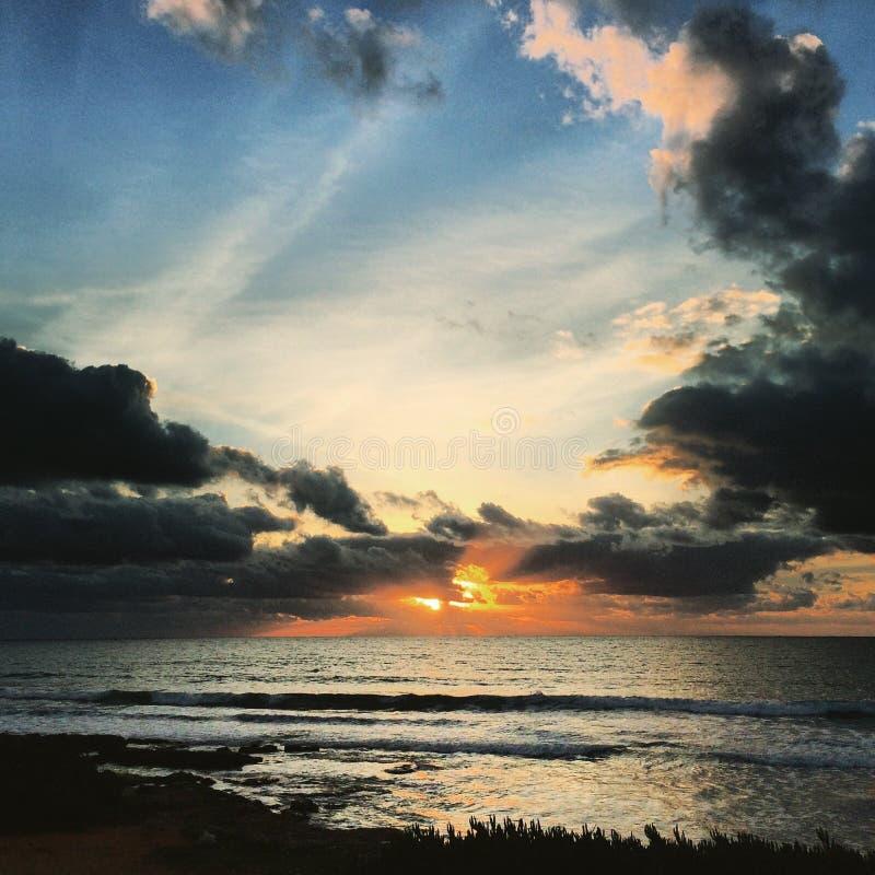 Sonnenuntergang in Mazara stockfotos
