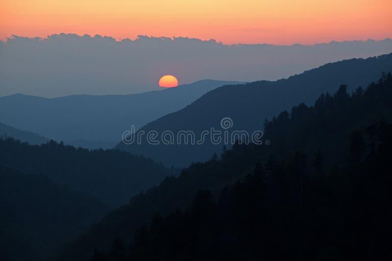 Sonnenuntergang, Morton übersehen lizenzfreies stockfoto