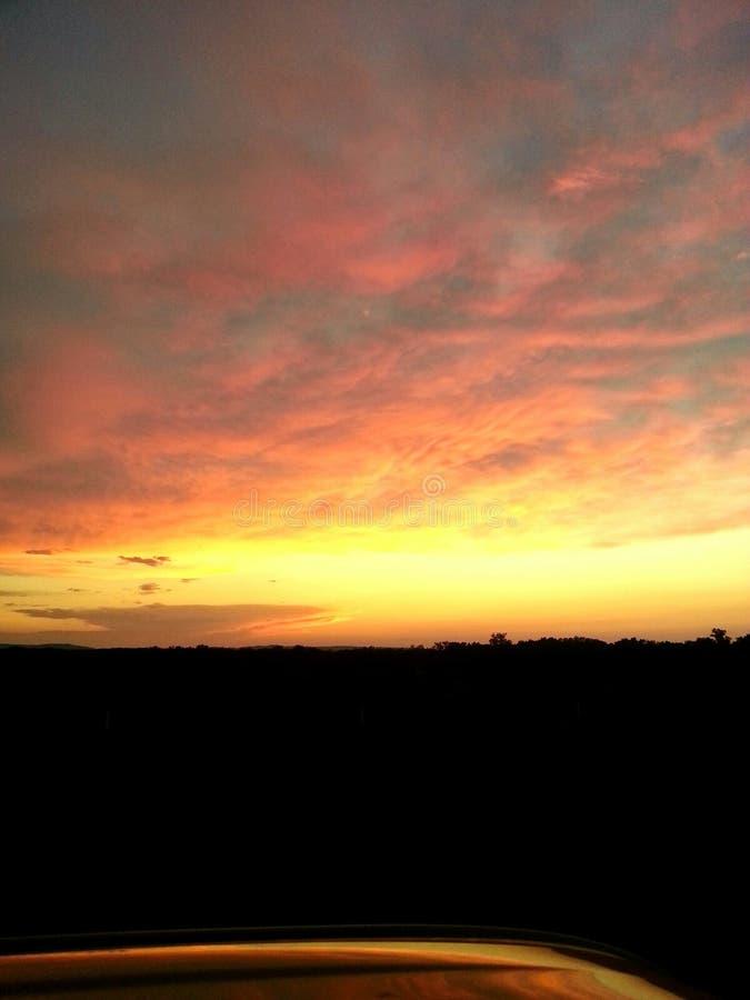 Sonnenuntergang in Murray lizenzfreie stockfotos
