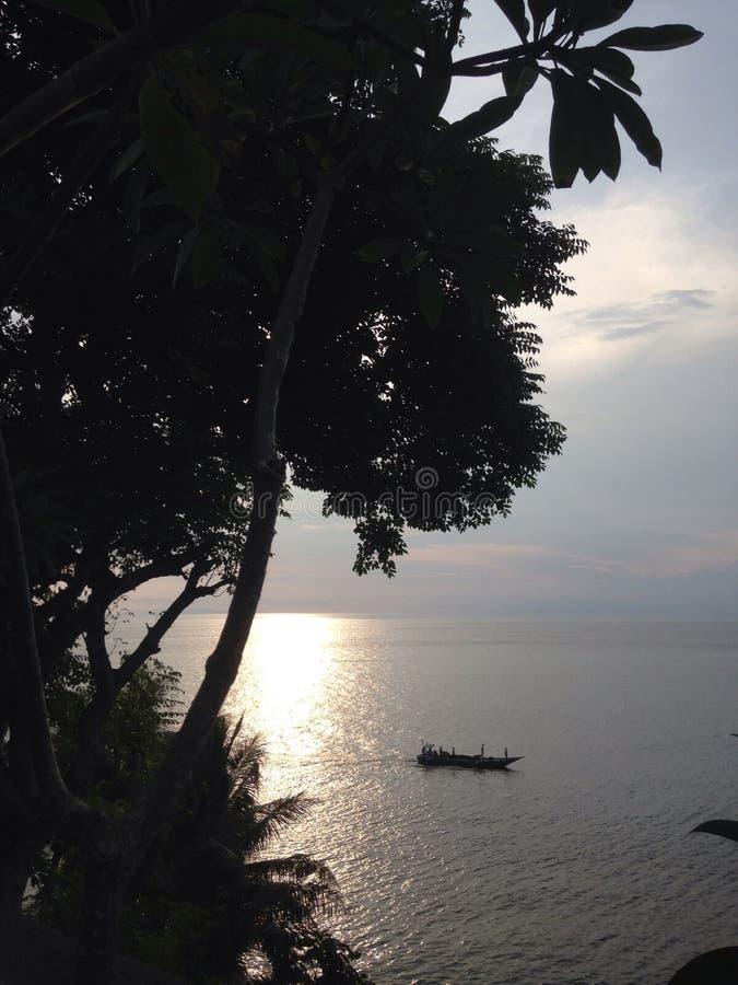 Sonnenuntergang neben Ihnen stockfotografie