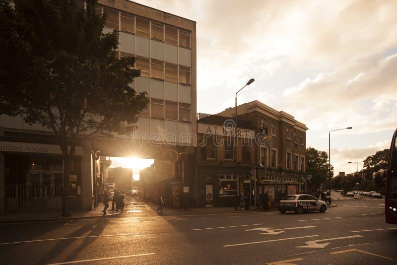Sonnenuntergang in Notting Hill n London 2017 stockfoto