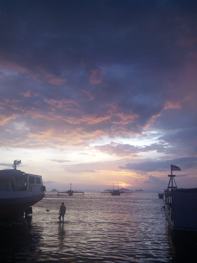 Sonnenuntergang in NTT stockbild