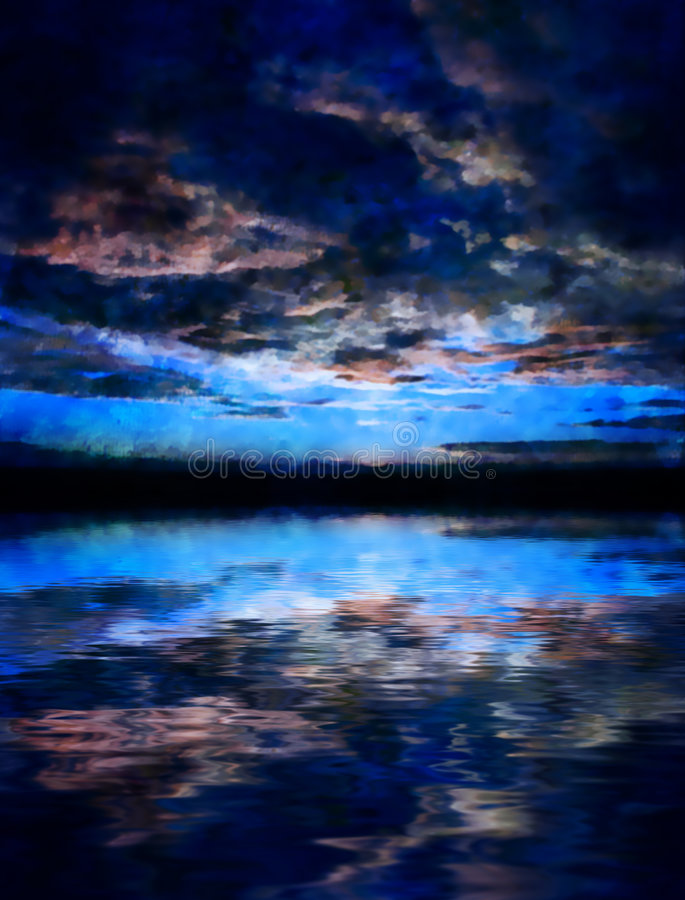 Sonnenuntergang- Oder Sonnenaufgangwolken Stockbilder