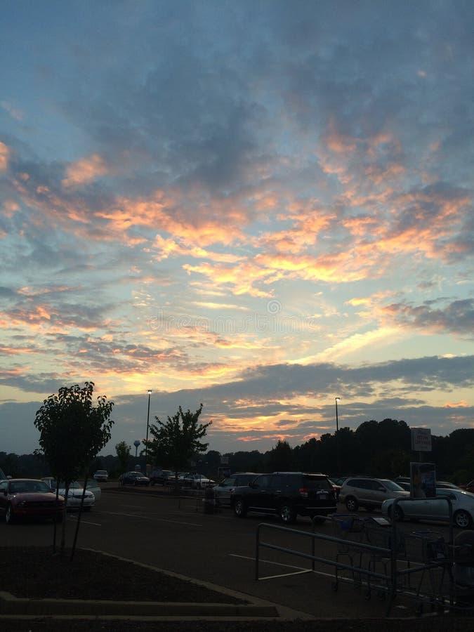 Sonnenuntergang in Oxford stockfoto